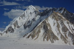 Ogre range, snow lake. View on ogre peak in the snow lake, who is very remote area in the middle of biafo hispar trek Stock Image