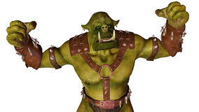 Ogre is ready to war. An ogre (feminine: ogress) is a large, cruel, monstrous and hideous humanoid monster, featured in mythology, folklore and fiction Stock Photos