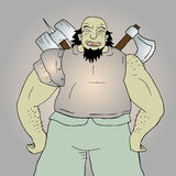 Ogre warrior Royalty Free Stock Images