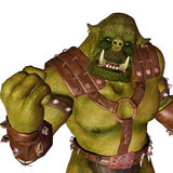 Ogre - welcome to the war. An ogre (feminine: ogress) is a large, cruel, monstrous and hideous humanoid monster, featured in mythology, folklore and fiction Royalty Free Stock Images