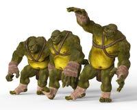 Ogres 3D Illustration Stock Images