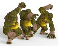 Ogres 3D Illustration Stock Image