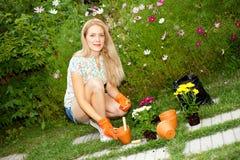 ogrodnictwa kobiety potomstwa Obrazy Royalty Free