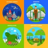 Ogrodnictwa pojęcia set ilustracji