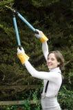 ogrodnictwa rękawiczek kobiety potomstwa Fotografia Royalty Free