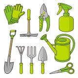 ogrodnictwo ikony ilustracji