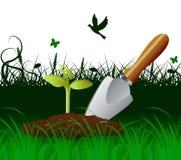 Ogrodnictwo kielnia Wskazuje Kultywuje narzędzie I rydel royalty ilustracja