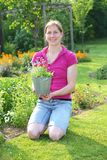 ogrodnictwo kobieta fotografia stock