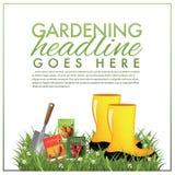 Ogrodnictwo marketingowy szablon Ilustracja Wektor