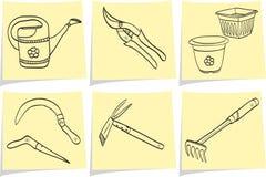 ogrodnictwo notatka wtyka narzędzia kolor żółty Fotografia Royalty Free