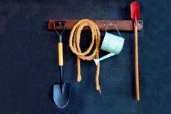 ogrodnictwo ogrodnicze narzędzia wiosny zdjęcia stock