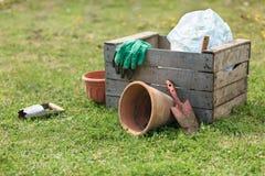 ogrodnictwo ogrodnicze narzędzia wiosny Obraz Royalty Free