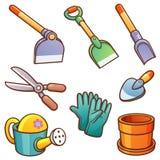 ogrodnictwo ogrodnicze narzędzia wiosny ilustracja wektor