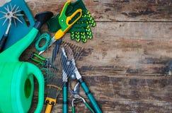 ogrodnictwo ogrodnicze narzędzia wiosny Obrazy Stock