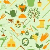 ogrodnictwo tła bezszwowy wzoru ilustracja wektor