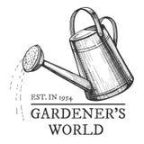 Ogrodniczka światu emblemat zdjęcia royalty free