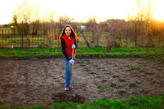 Ogrodniczka fotografia stock