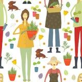 Ogrodniczka wzór royalty ilustracja