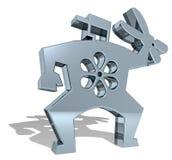 Ogrodniczki 3D symbol ilustracji