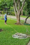 Ogrodniczki działanie zdjęcia royalty free