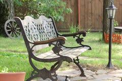 Ogrodowa ławka Zdjęcie Royalty Free
