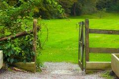 ogrodowa brama Zdjęcia Royalty Free