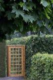 Ogrodowa brama i żywopłot Zdjęcie Stock