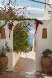 Ogrodowa brama w Lanzarote, Hiszpania Fotografia Royalty Free