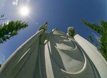 ogrodowa buddhist statua obrazy stock