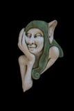 Ogrodowa czarodziejska elf rzeźba odizolowywająca Fotografia Stock