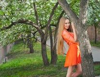 ogrodowa dziewczyna Fotografia Stock