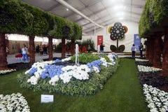 Ogrodowa instalacja przy Floraart Zdjęcia Stock
