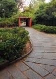 Ogrodowa Kamienna ścieżka zdjęcie stock