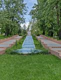 Ogrodowa kaskadowa siklawa obrazy royalty free