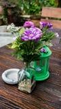 Ogrodowa kawiarnia obraz royalty free