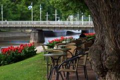 Ogrodowa kawiarnia Zdjęcie Royalty Free
