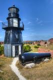Ogrodowa Kluczowa latarnia morska przy Suchym Tortugas parkiem narodowym obraz royalty free