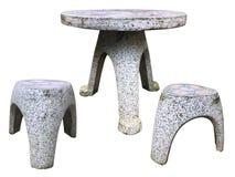 Ogrodowa marmurowa ławka Fotografia Royalty Free