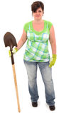 ogrodowa rękawiczek łopaty kobieta Fotografia Royalty Free