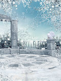 ogrodowa zima Fotografia Stock