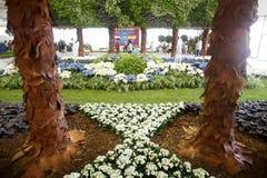 Ogrodowe instalacje przy Floraart Obrazy Stock