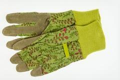 Ogrodowe rękawiczki z rzemienną palmą Zdjęcia Stock