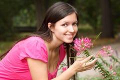 ogrodowego dziewczyny portreta uśmiechnięty lato Obrazy Royalty Free