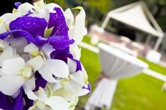 ogrodowego przyjęcia stół Zdjęcie Royalty Free