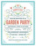 Ogrodowego przyjęcia zaproszenie ilustracja wektor