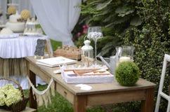Ogrodowego przyjęcia pierwszy communion Obraz Royalty Free