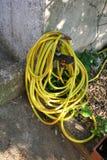 ogrodowego wąż elastyczny kolor żółty Zdjęcie Royalty Free