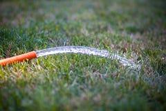 Ogrodowego węża elastycznego Bieżąca woda Obraz Royalty Free
