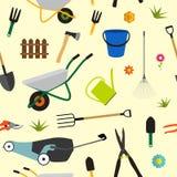 Ogrodowi narzędzia, instrument ikony kolekci Płaski set Łopata, samiec royalty ilustracja