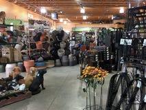 Ogrodowi towary dla sprzedaży przy kwiatu sklepem Obraz Royalty Free